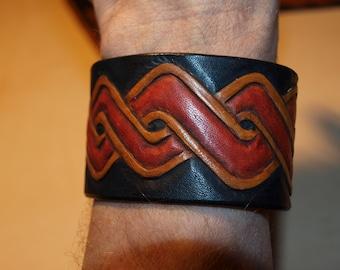 Leather celtic bracelet