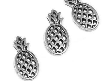 25%OFF Pineapple pendant Antique silver black patina connector charm high quality European hypoallergenic zamak tropical casting TH187 - 1pc