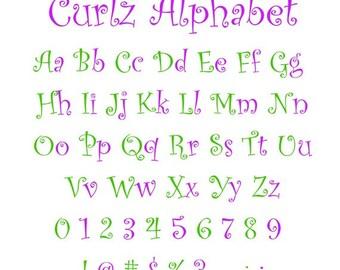 Curlz Font, Curlz Monogram Font, Curly Monogram Font, Curlz Svg, Curlz Alphabet, Silhouette Files, Cricut Files, Cutting Files, Cut Files
