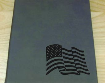 USA Flag - Leatherette Journal - Free Shipping!