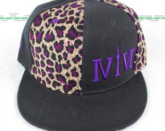Mroooowwr! Electric Purple Cheetah Snap backs! Original, Custom, CN Tower YYZ, GTA, ovo The Six, 6ix, Area Code 416 Hats with Roman Numerals