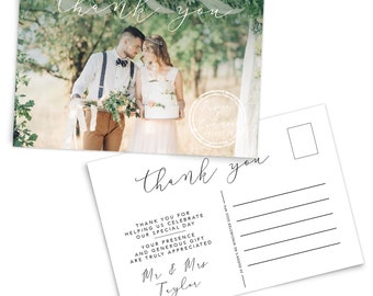 Personalised thank you cards, Photo thank you card, Custom thank you cards printable, Custom stationary, Personalized thank you cards pack