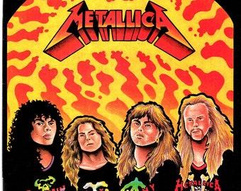 METALLICA Rock -N- Roll Biography Comic Book #2 Revolutionary Comics 1989