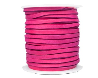 Fuchsia Pink Deerskin Lacing - (1) 50 foot spool, 1/8th inch lace.  Deerskin lace. (297-18x50FU)