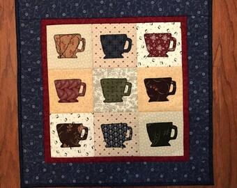 Mug Wall hanging, cups, table mat, candle mat, Kitchen decor, Item #180