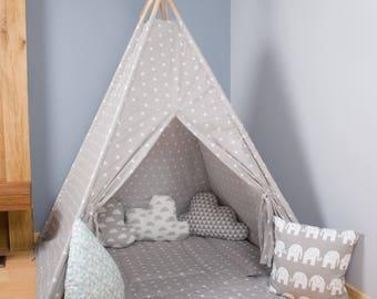 Secret cave, Kids Wigwam, Tipi Tent, Kids Teepee, Childrens fabric Teepee Tent For Kids, Kids Teepee Tent, Play Teepee, Christmas present