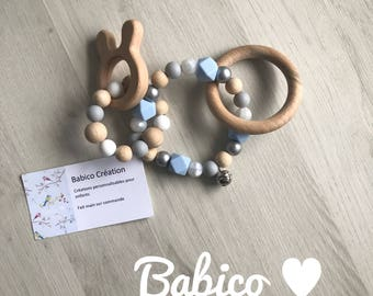 Rattle teething rings