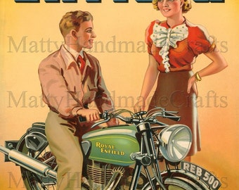 Royal Enfield, Bullet 500, Advertising 1930s Print