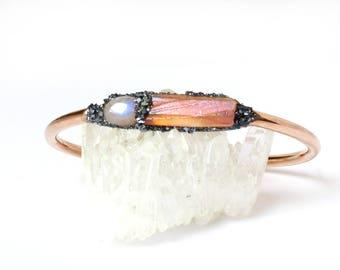 June Birthstone, June Birthstone Jewelry, June Birthstone Bracelet, Rainbow Moonstone, Moonstone, Raw Moonstone, June Birthday Gifts