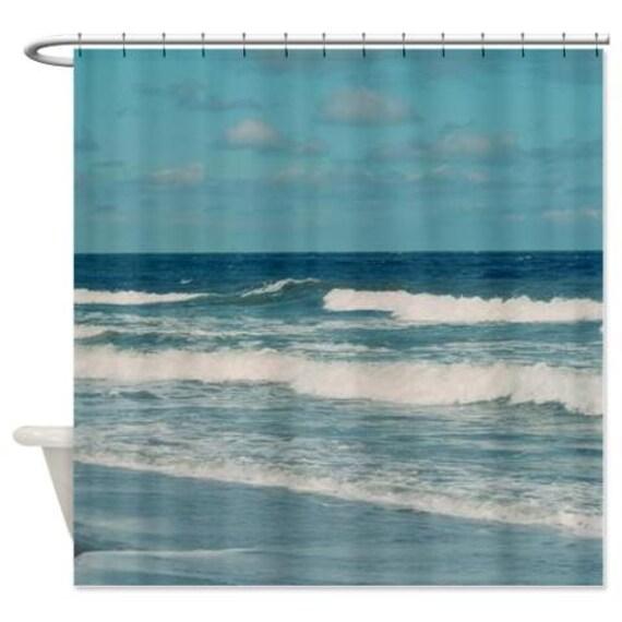 Ocean Shower Curtain Nautical Shower Curtain Ocean Waves
