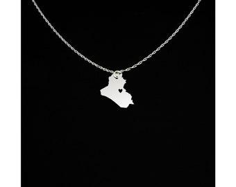 Iraq Necklace - Iraq Jewelry - Iraq Gift
