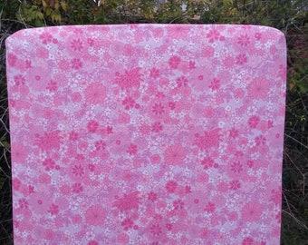 Vintage Pink Floral Fitted Cot Sheet, Cot Sheets, Fitted Cot Sheets, Crib Sheet