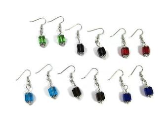 Cubed Drop Earrings , Cubed Dangle Earrings , Earrings