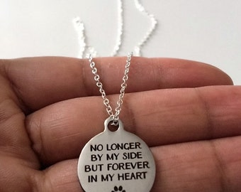 Pet Necklace, Pet Memorial Necklace, Pet Memorial Jewellery,Stainless Steel  Necklace,Birthday Gift, British Seller UK,Mothers Day Gift