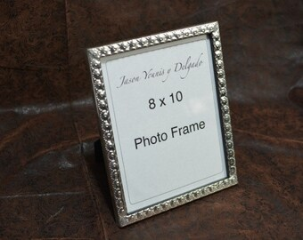 tin photo frame 8 x 10 hand punched New Mexican tinwork Jason Younis y Delgado www.newmexicotinwork