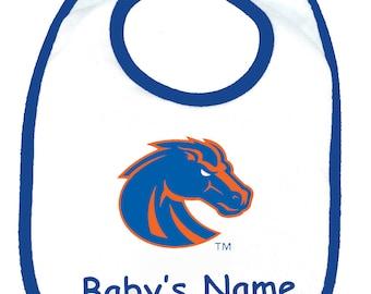 Boise State Broncos Personalized Baby Bib