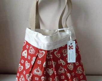 SMALL tote pattern hearts