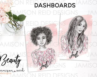Beauty Hand-drawn Dashboard | choice of size