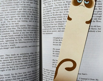 Unhappy Long Cat Bookmark