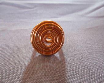 aluminum 2mm orange Adjustable ring