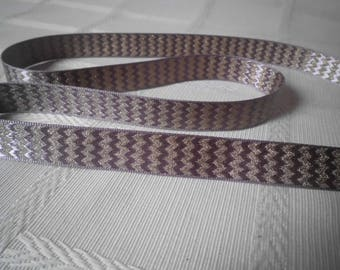 Lilac Ribbon and gold plated 16mm