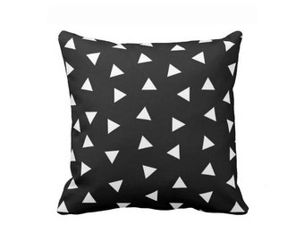 Black and White Triangles Pillow, Geometric pillow, Abstract pillow, Minimal decor, home decor, Scandinavian print, Nordic print, Kids Room