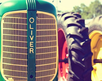 Vintage 1940s Oliver 60 Tractor - Fine Art Farm Photography Print - Boy Name Bedroom or Home Decor Photo