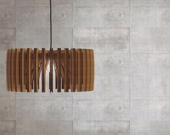 Wood Pendant Light - Modern Chandelier Lighting - Hanging Dining Lamp - Ceiling Light Fixture - Geometric Lamp - Minimal - Contemporary