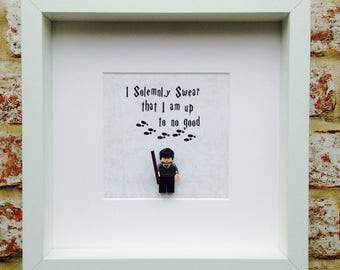 Harry Potter I Solemnly Swear That I Am Up To No Good Mini Figure Frame