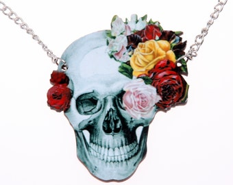 Necklace Skull wooden