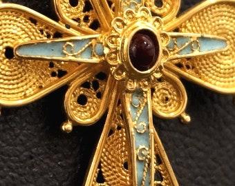 18κ (750) yellow gold Byzantine  cross.
