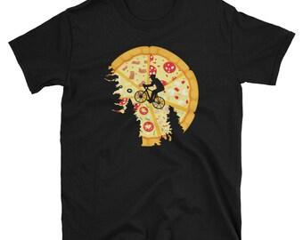 Funny pizza ET t-shirt