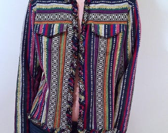 Groovy 70s  Vintage Striped Blazer by Chicos