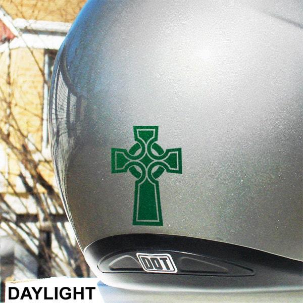 Skull Hyper Reflective Decal Motorcycle Helmet Safety Sticker