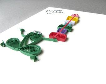 Frog Birthday Card, Happy Birthday Card, Paper Quilled Frog, Paper Quilling Birthday Card, Cute Birthday Card, Funny Birthday Card, Kid Bday