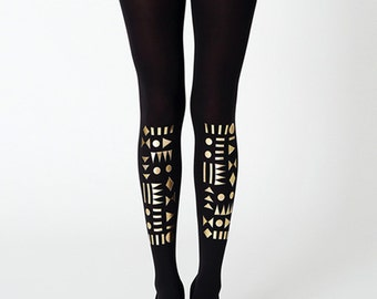 Golden geometric tights