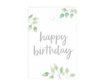 Happy Birthday Gift Tag Set