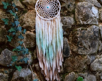 Hand Painted Dream Catcher, Dreamcatcher, House decor, Nursery decor, Wedding decor, Bedroom decor, Mobile, Bohemian, Boho, Wall hanging