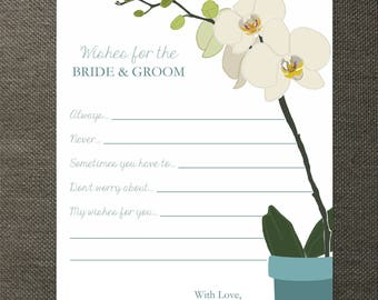 Orchid Wedding Wishes Cards - Perfect for Weddings, Bridal Showers, and Rehearsal Dinners