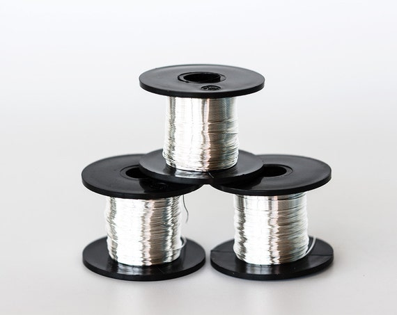 1738 Silver wire 28 gauge Jewelry wire 0.315mm Soft wire spool Craft ...