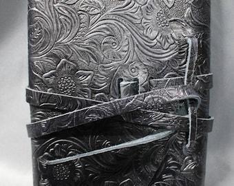 Black Leather Hand Crafted Journal Notebook or Artist Sketchbook