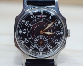 POBEDAZIM Aviator Wrist watches mens wrist watch vintage 1980s USSR