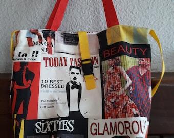 Large fashion bag, tote beach bag or all.