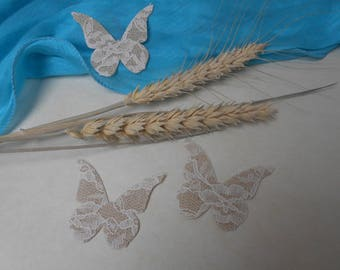 Burlap white lace Butterfly