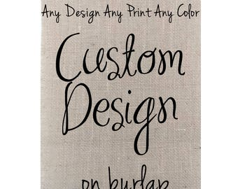 Your Custom Quote on Burlap, Gallery Wall Decor, Custom Quote Print, Personalized Quote, Quote Print, Custom Design, Framed Art Print, Print