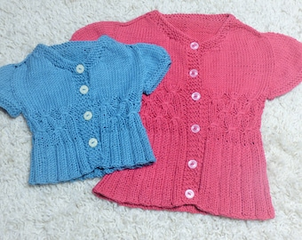 Knitting Pattern Summer Cardigan Sweater -  Caron (6 Sizes, 0 - 7 yrs)