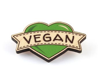 Vegan Wooden Brooch