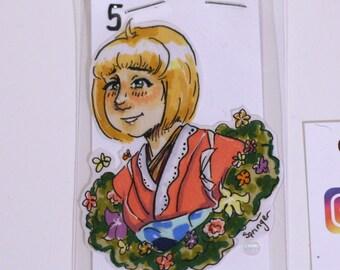 Shiemi Moriyama Blue Exorcist Hand-Drawn Custom Sticker