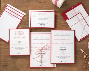 Brooklyn Wedding Invitation Suite - Symbol, Modern Design