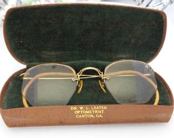 12K Gold Filled Bifocal Eyeglasses with Original Case